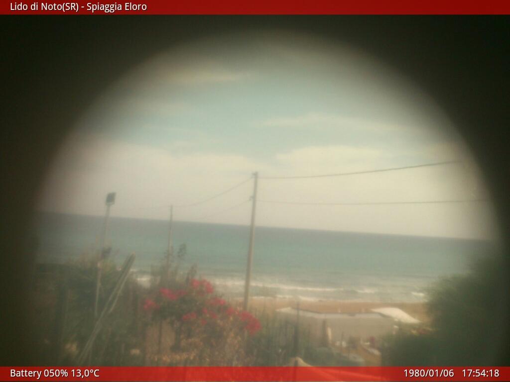 Webcam Lido di Noto - Spiaggia Eloro SR
